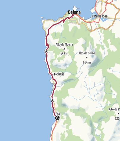 Map / Oia to Baiona