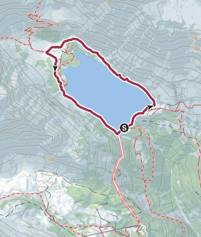 Karte / Rundweg um den Lac de Tseuzier