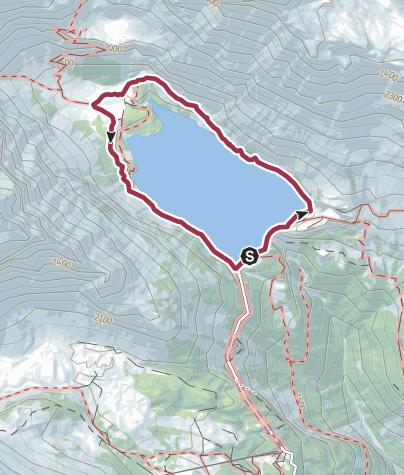 Map / Rundweg um den Lac de Tseuzier