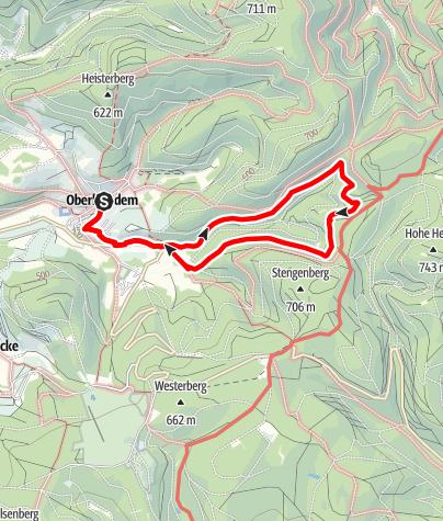 Map / Oberhundem: Kur- und Nordic-Walking-Weg Wigge-Siepern-Weg