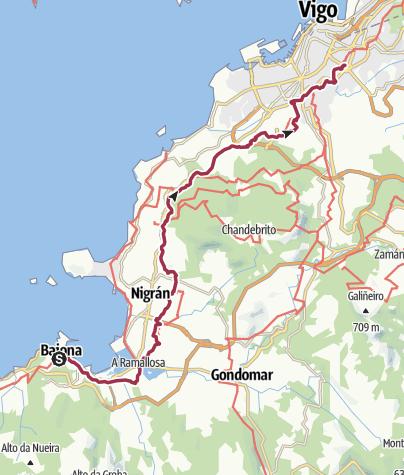 Map / Baiona to Vigo