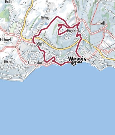Karte / Weggis Rigiblick