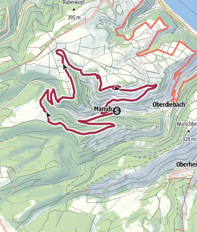 Kaart / St.-Oswald-Schleife