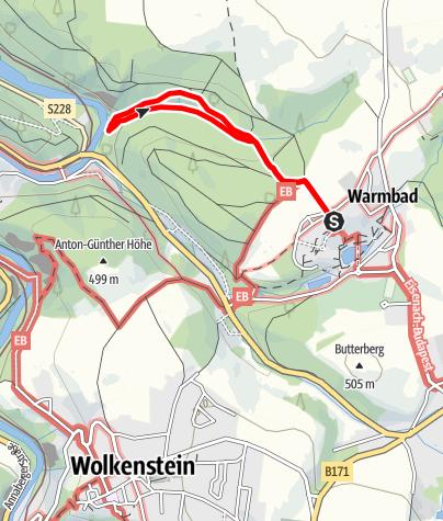 Karte / Königsbachtal im Terrainkurwegenetz Warmbad Wolkenstein
