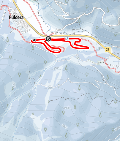 """Karte / 3 Furom - Rundloipe """"La sumbrivainta"""""""