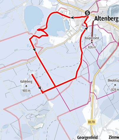 Karte / Winterwanderung Kahleberg