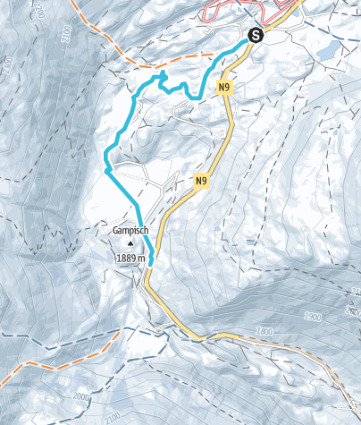 Map / Winter hike Simplon pass