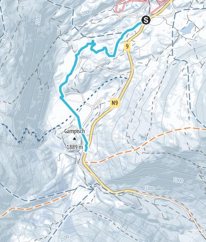 Map / Winter hike Simplon pass
