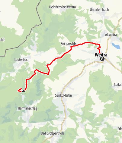 Mapa / Lainsitztal-Strecke Teil 1