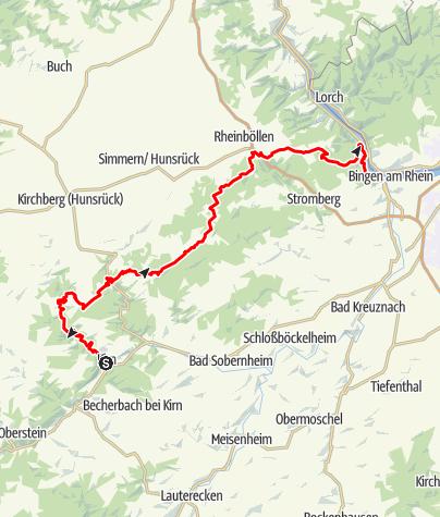 Karte / Soonwaldsteig - Gastronomie