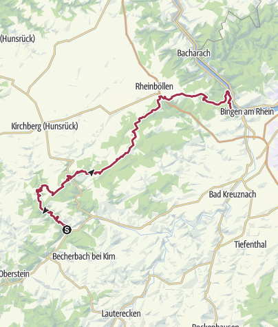 Karte / Soonwaldsteig - Unterkünfte