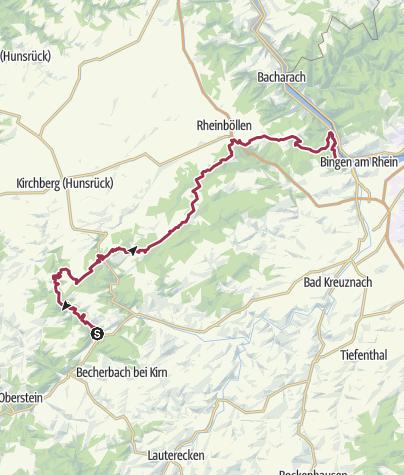 Carte / Soonwaldsteig - Unterkünfte