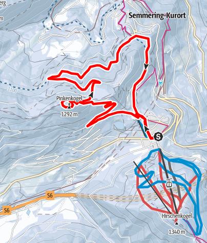 Karte / Pinkenkogel- Runde