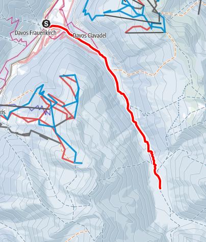 Karte / Sertigtal-Loipe