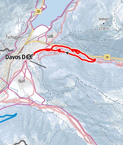 Karte / Davos Nordic Weltcuploipe