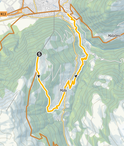 Karte / Enduro-Tour Brambrüesch - Passugg