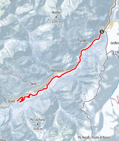 Karte / Passlung - Langlaufrennen Martina-Scuol