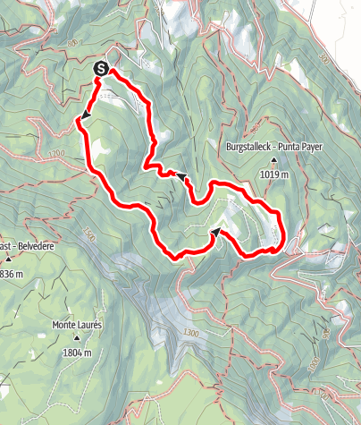 Karte / Von Obersirmian nach Gaid
