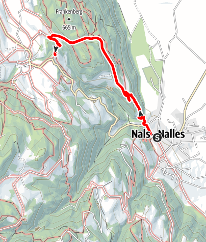 Map / From Nalles to the castle Katzenzungen