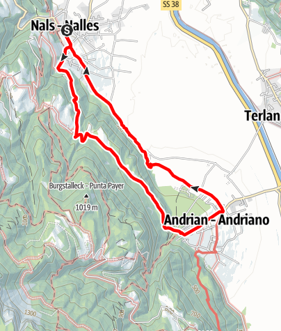Mapa / Von Nals nach Andrian