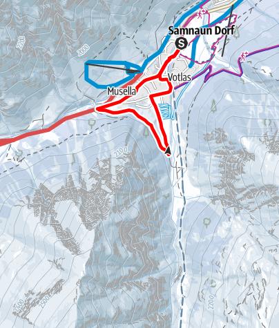 Karte / Märchenweg Samnaun im Winter (W8)