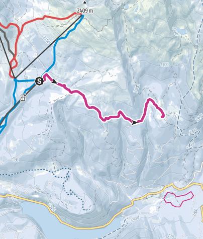 Cartina / Passeggiata invernale da La Morea a Malga Bocche