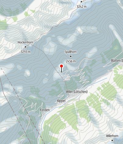 Map / Lauchernalp climbing wall