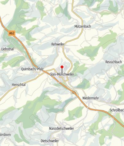 Karte / Protestantische Kirche & röm. Viergöttersteine
