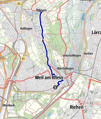 Karte / Standort Gumpe in Weil am Rhein - Bahnhof-Ost bis Ötlingen