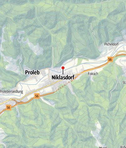 Karte / Bewegungsarena Leoben/Niklasdorf - Einstieg Freibad