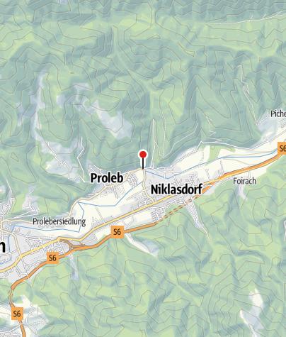 Karte / Bewegungsarena Leoben/Nikalsdorf - Einstieg Kletschach/Proleb