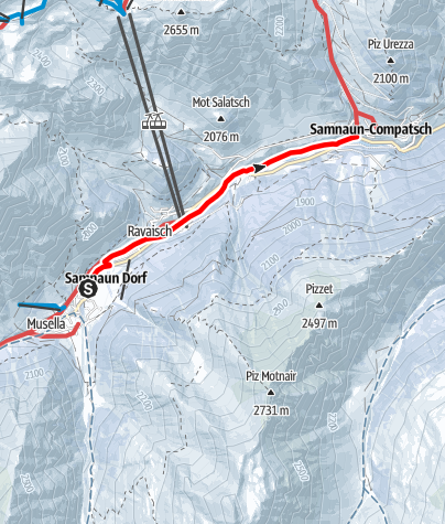 Karte / Talwanderweg im Winter