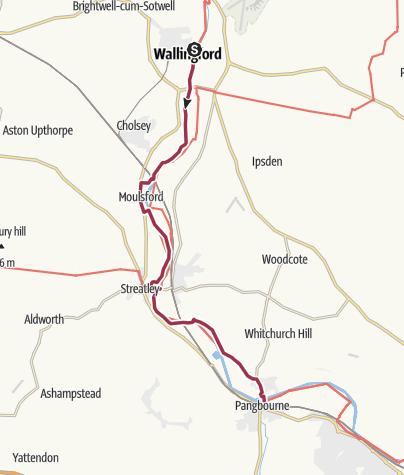 Map / Wallingford to Pangbourne