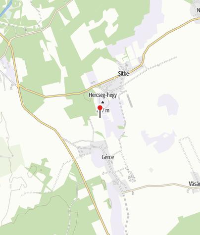 Térkép / Alginitbánya Gérce mellett