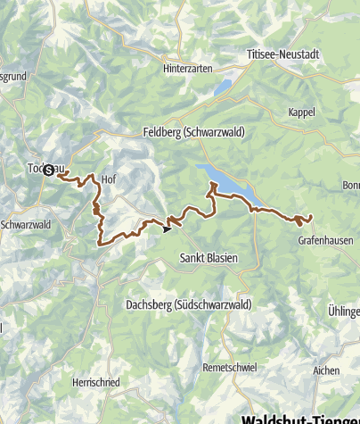 Karte / Gipfeltrail - 3-Etappentour - Etappe 2 - Todtnau-Rothaus
