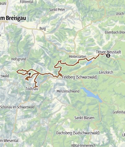 Karte / Gipfeltrail - 2-Etappentour - Etappe 1 Neustadt-Todtnau