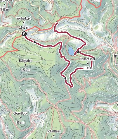 Karte / Nonnenmattweiher