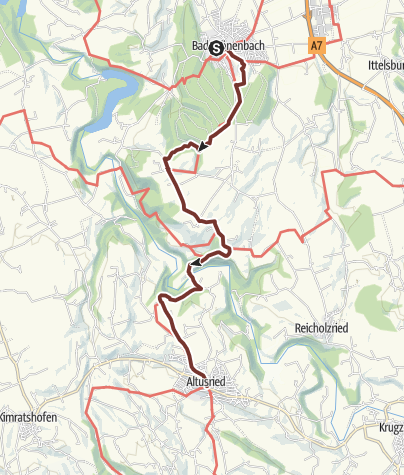 Karte / Jakobsweg im Allgäu Etappe Bad Grönenbach - Altusried