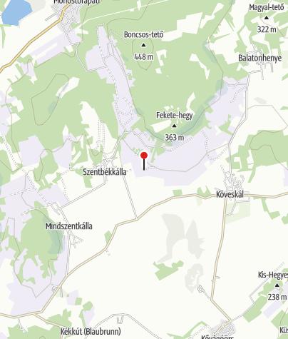 Térkép / Töttöskáli templomrom