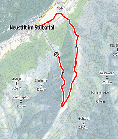 Karte / Naturschauplatz: Pinnistal - gespaltener Stein