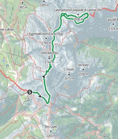 Karte / Latemar Türme (Campanili) Klettersteig