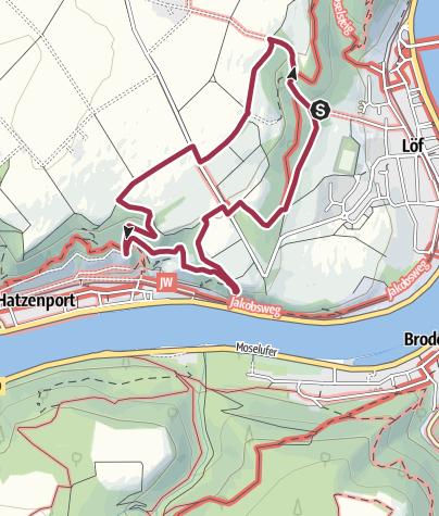 Karte / Traumpfädchen Löfer Rabenlaypfad
