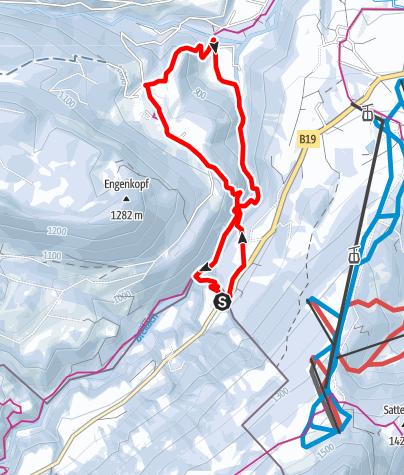 Map / Breitachklamm Gorge