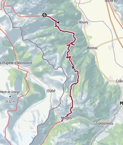Map / Vom Lac de Taney nach Morgins