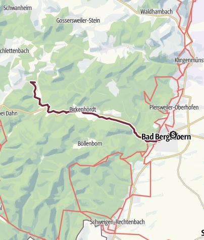 Karte / 02 Vorderweidenthal - Bahnhof Bad Bergzabern zu Platz 2 Vorderweidenthal