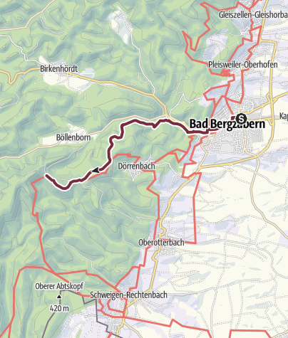 Karte / 01 Guttenberg - Bahnhof Bad Bergzabern zu Platz 1 Guttenberg