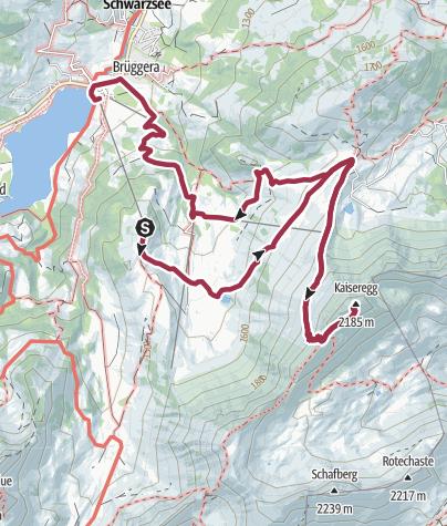 Map / Vom Schwarzsee auf die Kaiseregg