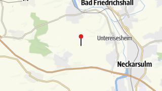 Karte / Grillplatz Hölzles-Hütte Obereisesheim