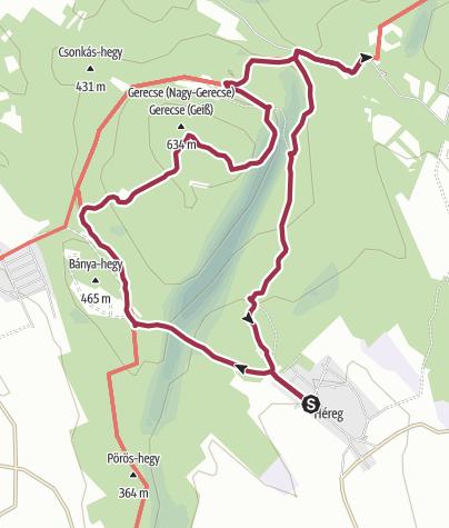 Térkép / A vörösmárvány és az őskrokodil nyomában
