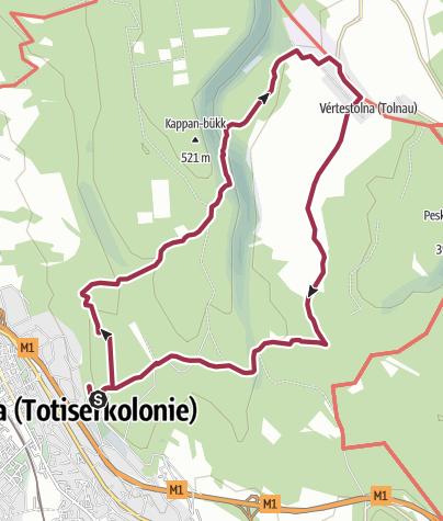 Térkép / A magyar turultól a német gyöngyszemhez - Gerecse Kapuja-Vértestolna körtúra